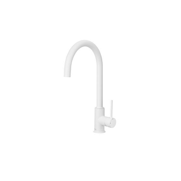 Смеситель для кухни Roca Etna белый с поворотным изливом, высота излива 20,2 см, 5A7B09B00