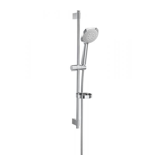 Душевой набор Roca Sensum Square с ручным душем 130/4, штангой 800 мм, мыльницей, шлангом 170 см 5B1408C00