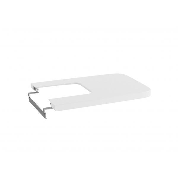 Крышка для биде Roca Inspira Square Soft Close, белый матовый 80653262B