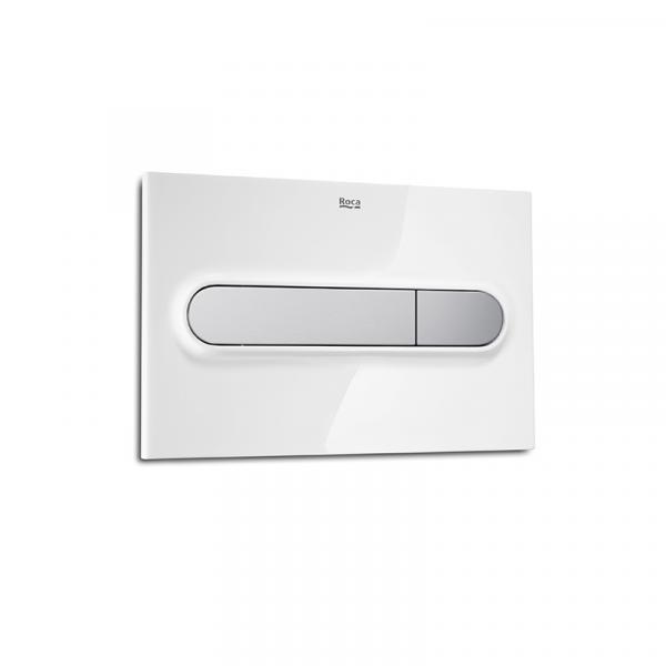 Клавиша для инсталляции Roca PL-1 двойной смыв, цвет белый + матовый хром 890095005