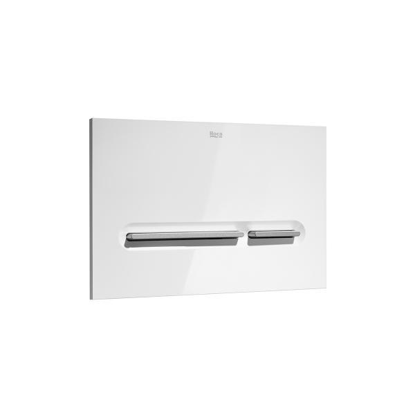 Клавиша для инсталляции Roca PL-5 двойной смыв, белый/матовый хром 890099005