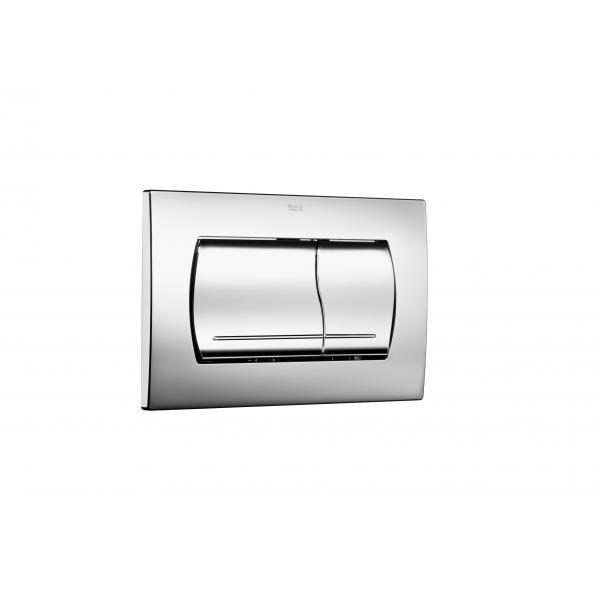 Клавиша для инсталляции Roca Active 52B двойной смыв, глянцевый хром 8901150B1