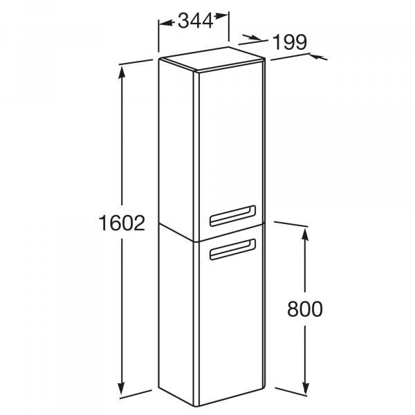 Шкаф-колонна Roca The Gap правый, бежевый ZRU9302696
