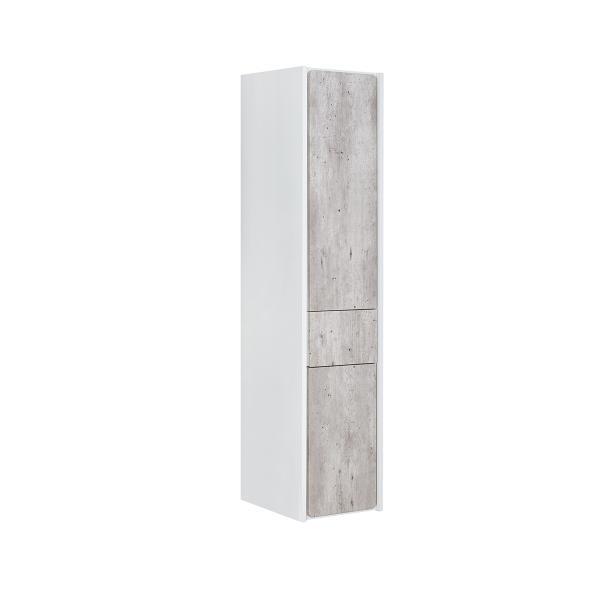 Шкаф-колонна Roca Ronda правый, белый матовый/бетон ZRU9303006