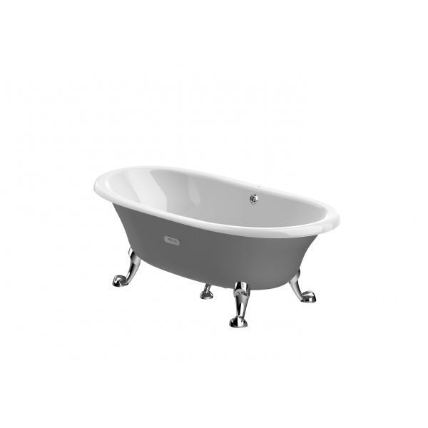 Ванна чугунная свободностоящая Roca Newcast серая, anti-slip 170x85 233650000