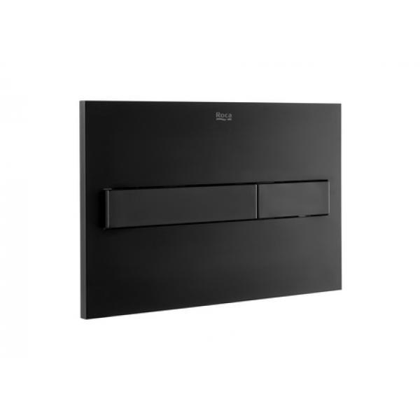 Клавиша для инсталляции Roca PL-7 двойной смыв, черная матовая 890088206