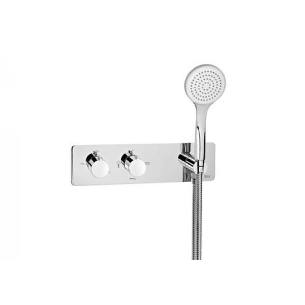 Термостат Roca Puzzle с ручным душем, 3 выхода, хром 5A2805C00