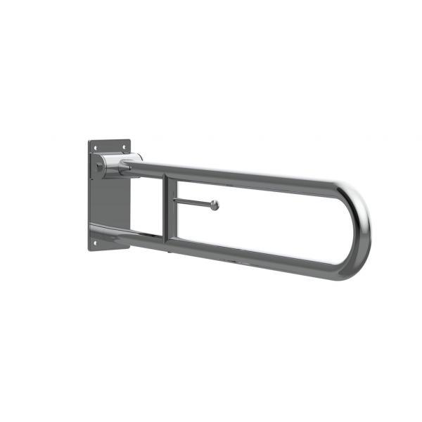 Поручень Roca Access Comfort откидной с держателем для туалетной бумаги 816935002