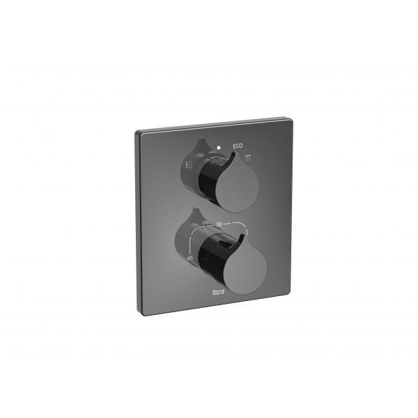 Термостат Roca Insignia ванна/душ, черный глянец 5A0C3ACN0