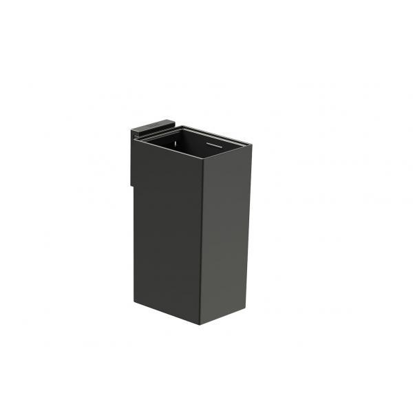 Стакан настенный Roca Rubik, черный матовый 816843024